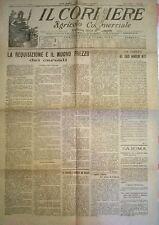 IL CORRIERE AGRIC. COM. 13 GIUGNO 1920  - LA REQUISIZIONE DEI CEREALI - N. 870