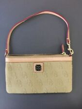 Dooney & Bourke Signature Monogram Large Slim Wristlet Clutch Wallet
