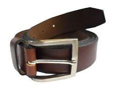 Cinturones de hombre en color principal marrón de piel