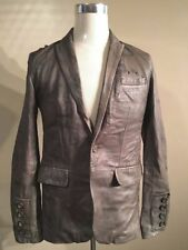 AllSaints Hip Length Leather Blazers for Men