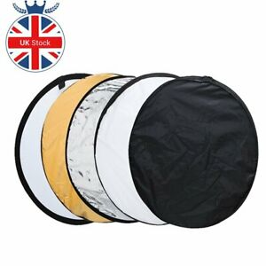 """UK 5in1 110cm 43"""" Light Diffuser Round Reflector Disc + Bag For photography"""
