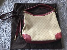 Gucci Hobo Tote Bag GG Red