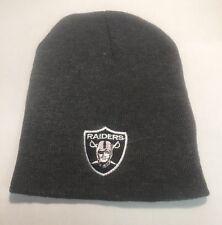 Oakland Raiders Gray Beanie New Winter Hat Scull Cap