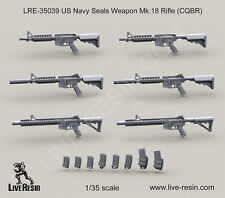 Live Resin 1/35 LRE-35039 US Navy Seals Weapon Mk.18 Rifle (CQBR)
