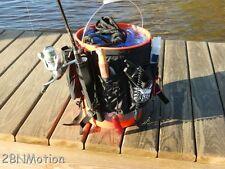 BAIT BUCKET BUDDY, FISHING TACKLE GEAR, KAYAK, CANOE, ROD HOLDER PADDLEBOARD SUP