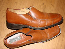 MENS Brown Leather Loafers STANLEY BLACKER 9 1/2M