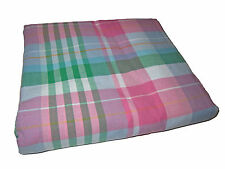 Ralph Lauren Polo Pink Plaid Madras Queen Bedskirt