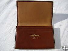 GOLDPFEIL NEW IN THE BOX SCOTCH LEATHER BUSINESS CARD WALLET HANDMADE IN GERMANY