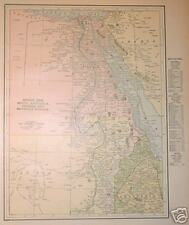 1899 Northeast Africa Color Map* Egypt, Abyssinia,