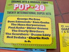 LP POP 20- ORIGINAL HITS & ORIGINAL STARS SAM COOKE PAUL ANKA OLIVER ONIONS VG