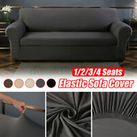 1/2/3/4 Seater Stretch Chair Sofa Cover fabric Elastic Couch Slipcover Protector