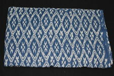 3 yard Hand Block Ikat Print Fabric Indigo Blue Bagaru Print Cotton Dabu Fabric