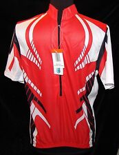Cool Max Active Bicycle Jersey NWT M Shamp Bike Cycle Shirt Unisex Half Zip
