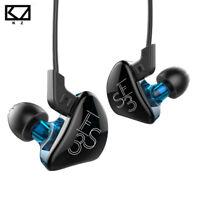 KZ ES3 In-ear Earphone 1BA+1DD Hybrid Headset HIFI DJ Monitor Headphone with Mic