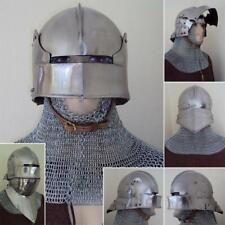BIG SALE - Medieval German Sallet Helmet 16 Gauge. Great For Re-Enactment / LARP