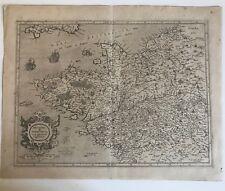 MERCATOR 1585 CARTE DE LA BRETAGNE & NORMANDIE