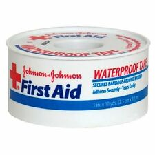 Johnson & Johnson Red Cross First Aid Waterproof Tape 1 Inch X 10 Yards Each