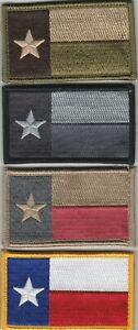 TEXAS FLAG patch with full hook backing - ASST. COLORS