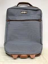 Jessica Simpson Luggage Carry On Bag Suitcase Weekender Travel Blue Stripe