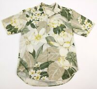 TOMMY BAHAMA Men's Small Silk Short Sleeve Button Front Floral Hawaiian Shirt