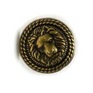 5pcs Vintage Bronze Lion Metal Shank Buttons for Sewing Clothing Blazer 18mm