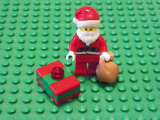 Lego Christmas SANTA CLAUS MINIFIG -Red Present Sack White Beard Minifigure
