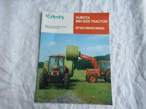 1994 Kubota M7580 M8580 M9580 tractor brochure