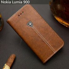 Luxury Flip Cover Stand Card Wallet Pu Leather Phone Case For Nokia Lumia 900