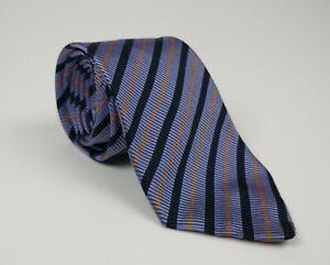 Gant Purple 100% Silk Striped Men's Tie Orange / Black Stripes