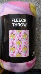 "Princess - Pink Rose Repeater 40""x50"" Lightweight Fleece Blanket Throw"