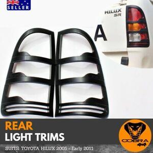 Matte Black Tail Light Trim Covers suitable for Toyota Hilux 2005 - 2011 rear