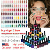 Nail Art Soak Off Gel Polish Manicure UV Basetop Coat 242 Colours US