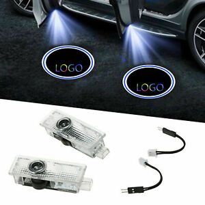 2/4x FOR 1/3/4/5/6 SERIES CAR DOOR ENTRY LED LASER PROJECTOR PUDDLE SHADOW LIGHT