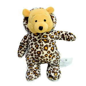 Disney Winnie the Pooh Bear Leopard Suit Plush Soft Toy Washed and Clean 19cm