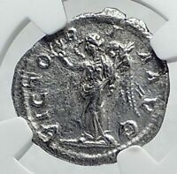 SEVERUS ALEXANDER Authentic Ancient 228AD Silver Roman Coin VICTORY NGC i81403