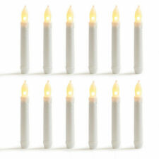 Led Candles Flameless Taper Warm White Body Wax Dipped Battery Operated