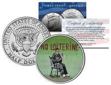 BANKSY * NO LOITERING * Colorized JFK Half Dollar U.S. Coin Street Art Graffiti