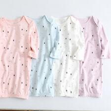 Newborn Toddler gown sleep suit Baby Night gown Layette Cotton NIGHTDRESS 0-24 M