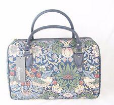 Strawberrry Thief Bird design Large Tapestry Barrel Bag - Handbag Signare