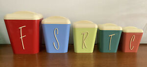 Vintage Retro Gay Ware Cannisters