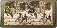 Keystone Stereoview Granite Quarry in Concord, NH Version A 1910's Education Set