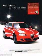 PUBLICITE ADVERTISING 085  2006  ALFA ROMEO   ALFA 147 MILANO
