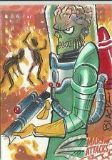 2016 Topps Mars Attacks Occupation Martian Burning People Sketch Card Dana Black
