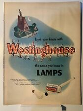 1947 Westinghouse Lamps - Maxwell Coffee House - Magazine Ad