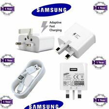 NEW Samsung Galaxy S3 S4 S5 S6 S7 Mains Charger USB Plug and Data Cable Lead UK
