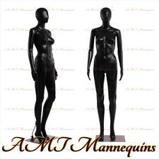 FC-7B, Female display mannequin full body, durable black plastic manikin