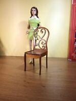 "2 chairs for BRB FR FR2 BJD Dolls 12"" 1/6 furniture handmade diorama OOAK V14"