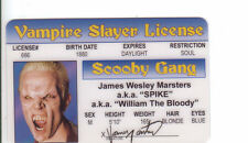 James Marsters SPIKE of Buffy the Vampire Slayer  id card Drivers License