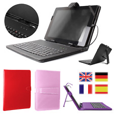 Universal PU Leather USB Keyboard Stand Case for Tablets