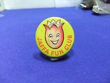 vtg badge jaffa fun club cakes oranges tin badge 1950s 60s advert childrens club
